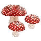3Pcs Large Mushroom Shaped Paper Lanterns for...
