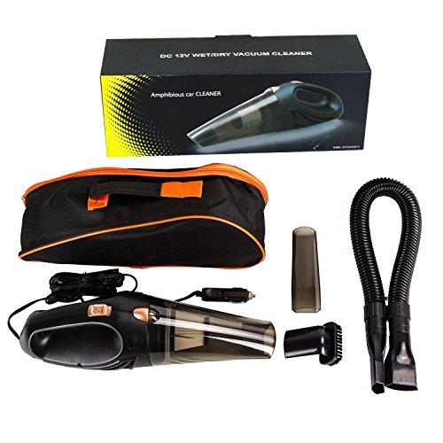 Uvistar Dustbuster Piccolo aspirapolvere per auto, 12V, per peli di animali, silenzioso, a secco e umido con accessori, alte prestazioni, mini set senza sacchetto con cavo, portatile
