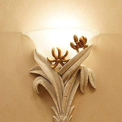 YANGHHONG-lámpara de pared- Chino imitación clásico de madera de madera de madera sala de estar comedor dormitorio noche lámpara de noche moderna moda decoración de piel de oveja luz del restaurante i