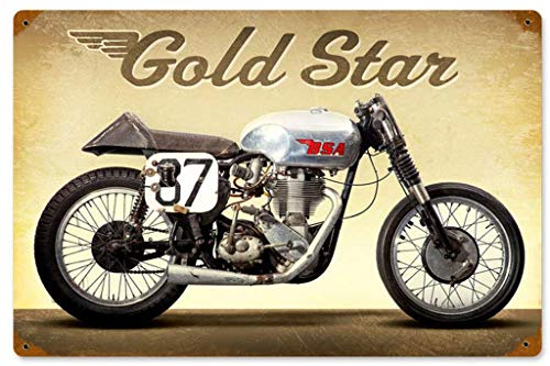 YASMINE HANCOCK Goldstar Metall Plaque Zinn Logo Poster Wand Kunst Cafe Club Bar Wohnkultur