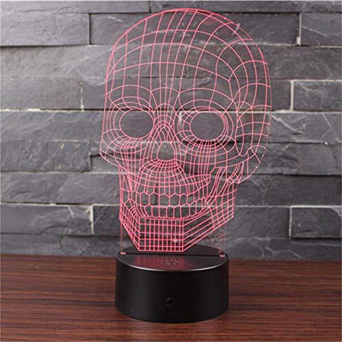 Led Night Light 3D Lamp Skull 3D Lights 7 Colors Children'S Nightlight Visual Led Night Lights Illusion Mood Lamp