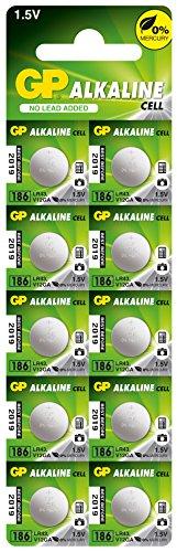 GP Batteries 103361 LR43 Carte de 10 Piles Bouton