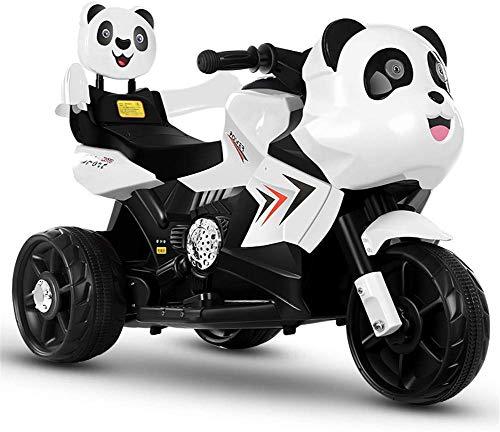 Fee-ZC Elektrische kinderfiets voor kinderen, voor de veiligheid van de motorfiets, 3 fietsen, elektrische fiets, driewieler voor kinderen, 2-6 jaar, koplamp en muziek, 6 V, 3 km/h