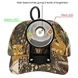 Kohree CREE 80000 LUX LED Coyote Hog Coon Hunting Light, Rechargeable Predator Hunting, 3 LED Cap...