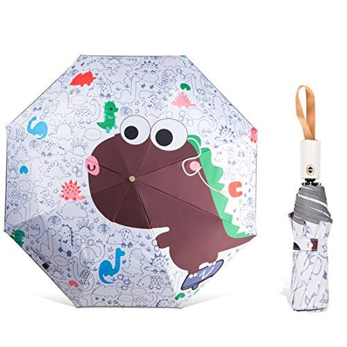 Levoberg - Paraguas automático para niños con Tiras Reflectantes, Resistente al Agua y Estable de 8 Costillas para niños y niñas #8 Talla única