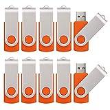 KALSAN 50 Pack 8GB USB Flah Drives Pack USB 2.0 8GB Flash Drive 50 Pack USB Memory Stick-Orange