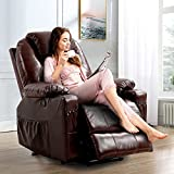 Best Leather Chairs - EASELAND Power Lift Recliner Chair Sofa with Heated Review