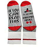 Dealswin Women Watching Christmas Movies Socks, If You Can Read This Funny Dress Socks