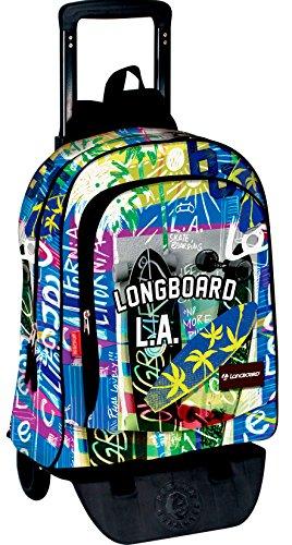 Perona 54385 Longboard Mochila escolar, 42 cm, Multicolor