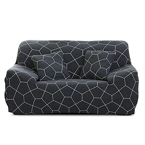 PPOS Nueva Funda de sofá elástica geométrica Fundas elásticas universales para Sala de Estar Sillón Sofá de Esquina Sofá Decoración para el hogar A8 4 Asientos 235-300cm-1pc