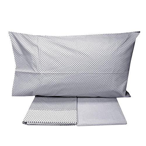 Vallesusa - Sábanas individuales de puro algodón valesusa sheila gris