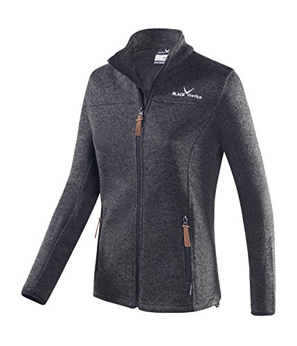 Black Crevice Damen Fleece Jacke, schwarz, 40 Jacket