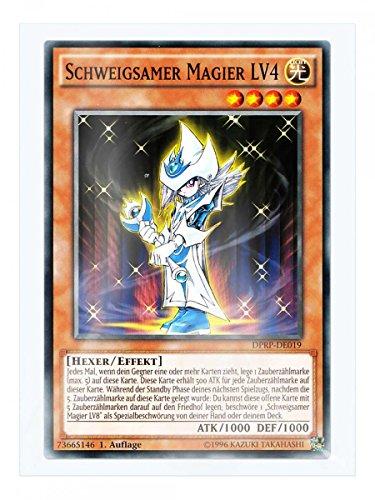 DPRP-DE019 Schweigsamer Magier LV4 1. Auflage im Set mit original Gwindi Kartenschutzhülle