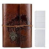 Taccuino pelle diario di viaggio in pelle 22 X 11 cm Marrone viaggiatori diario di viaggio ricaricabile pelle fatta a mano per scrittori poeti pagine bianche