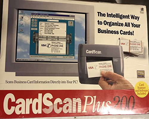 Best Buy! CardScan Plus 200 (The Intelligent Way to Organize Your Business Cards)