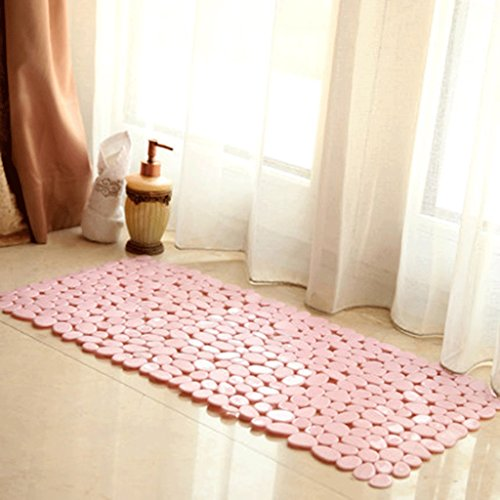 ZUOANCHEN Bath Mat - Extra Long Best Luxury Bath Mat Contemporary, Durable and Stylish Modern Bath Mats Made Rubber Suction Cups. (Color : Pink)