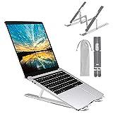 M JJYPET Laptop Stand, Aluminum Computer Holder, Ergonomic Laptops Elevator for Desk, Adjustable Notebook Stand for Laptop Compatible up to 17 inches,Foldable, Portable