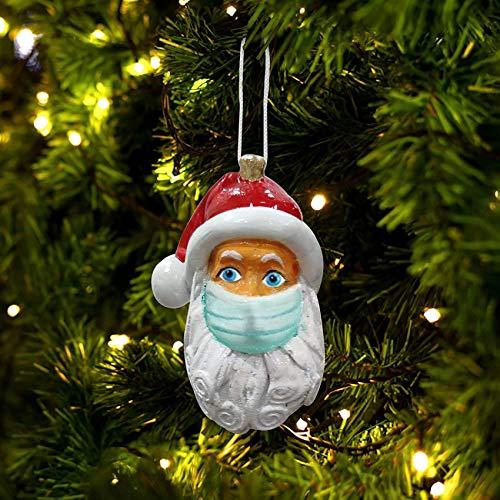 KAUTO Lampada Natalizia a LED con Babbo Natale, Lanterna Musicale Natalizia con Globo di Neve, lampione Elettrico con Neve Decorazione Natalizia Lanterna Natalizia Decorazione Creativa (B)