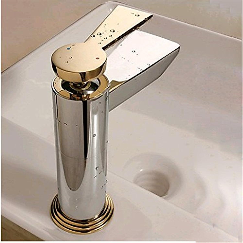 AOEIY Wasserhahn Küchen Mischbatterie Kupfer warmes und kaltes Wasser Chrom Gold Waschtischarmaturen Mixer Spültisch Armatur Bad Spülbecken Spültischbatterie badezimmer Küchenarmatur Edelstahl