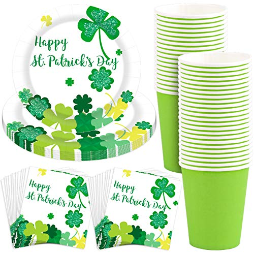Purchase WXJ13 St Patrick's Day Party Supplies Shamrocks Dinner Irish Party Supplies Disposable Dinn...