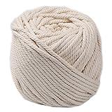 KingSaid - Cuerda de macramé (5 mm x 65 m), color beige