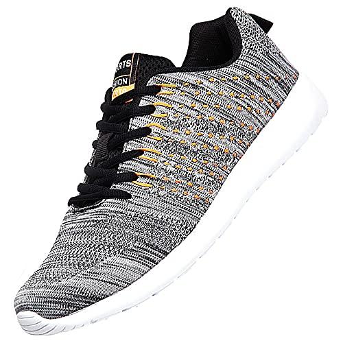 Zapatillas De Running Hombre,Zapatillas para Fitness Jogging Y Running,Grey_38