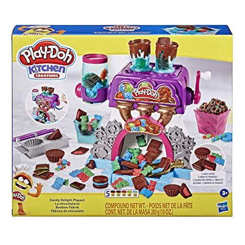 Play-Doh Kitchen Creations Candy Delight juego para niños de 3 años en adelante con 5 latas, tóxico (Hasbro 0)