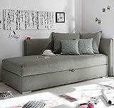 MIKA Polsterliege Polsterbett Schlafsofa Couch Sofa 208x84x100 cm Silber