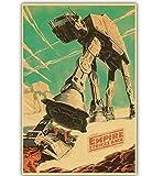 yuyu-beautiful Guerre Stellari Classiche Star Yoda/Darth Vader Poster in Tela Carta Complementi Arredo Casa Wall Art Retro Poster 50X70Cm Senza Cornice