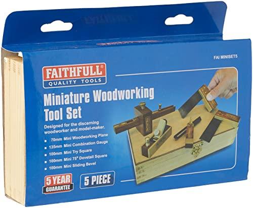 Faithfull FAIMINISET5 - Kit de carpintería (pack de 5)