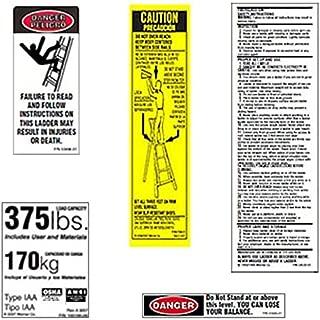 Werner 375 LB Fiberglass Step Ladder Label Kits (Pack of 6)