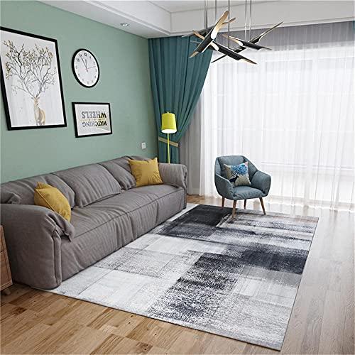 alfombras pie de Cama Alfombra de Sala de Estar Gris patrón borroso Vintage Durable Alfombra Anti-mita Gris alfombras Salon 80X120CM Alfombra Suelo 2ft 7.5''X3ft 11.2''