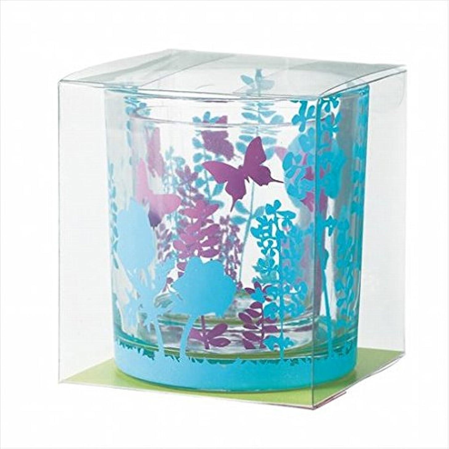 センチメートル抑制言うまでもなくカメヤマキャンドル(kameyama candle) ブルーミングデュエットグラス 「 クールカラー 」