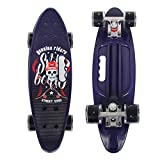 YF YOUFU 23 Inch Beginner Skateboard, Plastic Deck Cruiser Complete Mini Skateboards for Beginners/Boys/Girls/Youth/Adults
