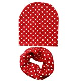 AHECZZ Sombrero,Nuevos Juegos de Bufandas para niños Otoño Invierno Niñas Niños Gorras Sombreros para bebés 5m-3 años redlove