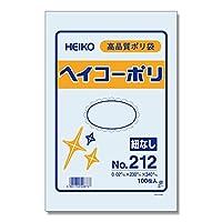 HEIKO ポリ袋 ヘイコーポリエチレン袋 0.02mm厚 No.212 100枚