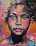 Retrato de personaje Pintar por Numeros Adultos Niños DIY Pintura por Números con Pinceles y Pinturas 16 * 20 Pulgadas, Sin Marco