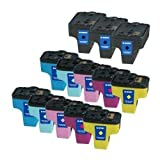 ink4print Remanufactured Ink Cartridge Replacement for HP 02 (Black,Cyan, Magenta, Yellow, Light Cyan, Light Magenta,13-Pack)