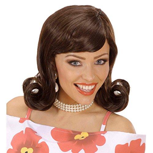Amakando Perruque Rétro pour Femme Sixties Rock'n'Roll Faux Cheveux Années 50 Rockabilly Soirée à Thème Fête Accessoire Déguisement Carnaval