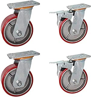 Universeel wielzwenkwiel 4-delige vervangende wielen 360 & graden;Draaiflexibiliteit Zwaar uitgevoerde rollen met 250 kg ...