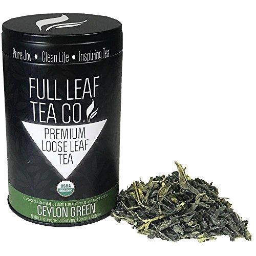 Organic Ceylon Green (Sri Lanka) Tea - 2oz Bag (Approx. 30 Servings) | Full Leaf Tea Co.