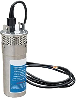 ECO-WORTHY 24V DC Stainless Solar Powered Submersible Water Well Pump 230'/70m Lift Stainless Water Pump