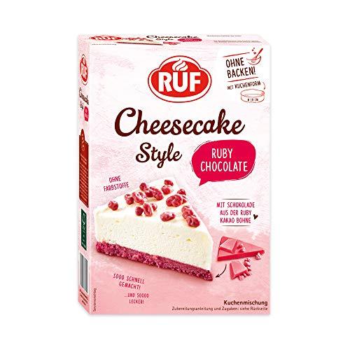 RUF Ruby Chocolate Cheesecake ohne Backen mit Schokolade aus der Ruby-Kakao-Bohne
