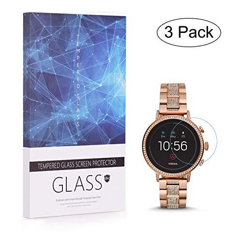 BECEMURU Fossil Q Venture HR Protector de Pantalla 9H Pantalla de Cobertura Completa Protector de Cristal Templado para Garmin Fossil Q Venture HR Smartwatch (Paquete de 3)