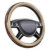 Car-Pass - Funda universal para volante de coche (38 cm), color beige