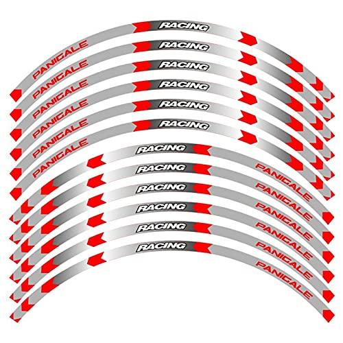 Pegatina de Rueda Accesorios para Motocicletas Kit Stripes Tapas De La Rueda De Las Calcomanías Pegatinas Reflectantes Rim para DU-Cati Pan-IGALE 1199 / S / 899 1299 / S/R 959 (Color : B)