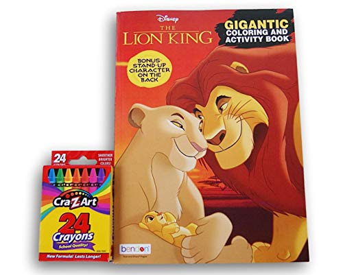 Coloring Books The Lion King Jumbo 200 Page with Crayons