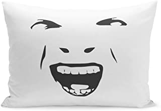 Semtomn Throw Pillow Covers Demonic Ugly Face Devil Scream Character Demon Monster Screaming Open Mouth As Front View Horror Pillow Case Cushion Cover Lumbar Pillowcase for Couch Sofa 20 x 26 inchs