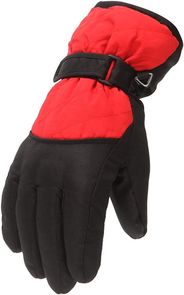 Skiing Gloves Winter Outdoor Sports Boys Girls Snow Windproof Mittens for Kids