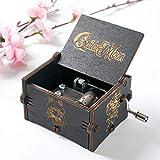 Caja de música Caja de música clásica de Madera para decoración de Escritorio(Black Sailor Moon)